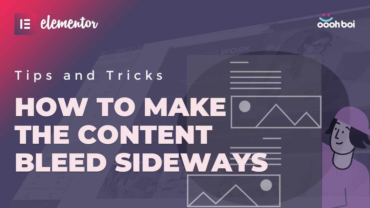 How to Make The Content Bleed Sideways in Elementor - No PRO Needed