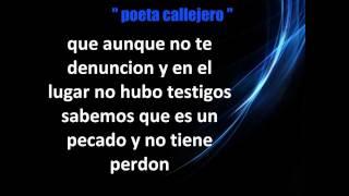 """Poeta Callejero - """"No Violencia Contra La Mujer""""★ con letra★"""