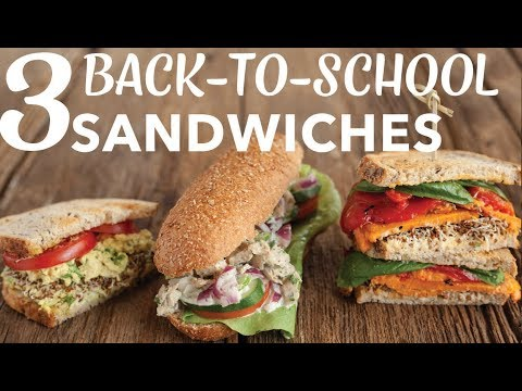 3 VEGAN BACK-TO-SCHOOL SANDWICHES | Tofu Egg Salad | Chicken Salad | Roasted Sweet Potato | Edgy Veg