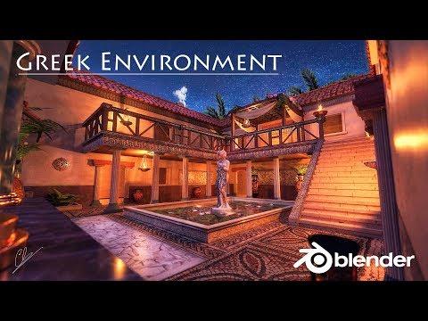 Creation of an Antique Greek Environment in Blender 2.79