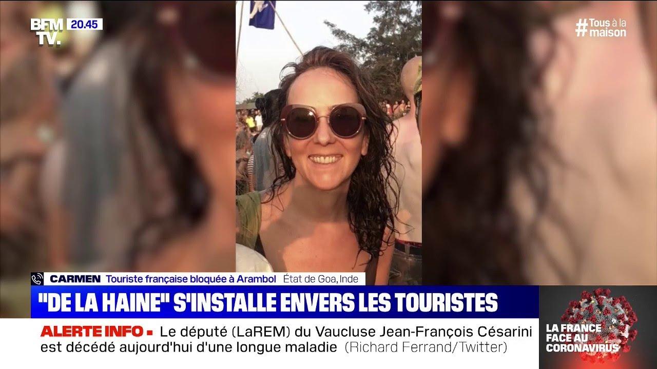 """Coincée dans le sud de l'Inde, cette française témoigne de la """"haine"""" envers les tour"""