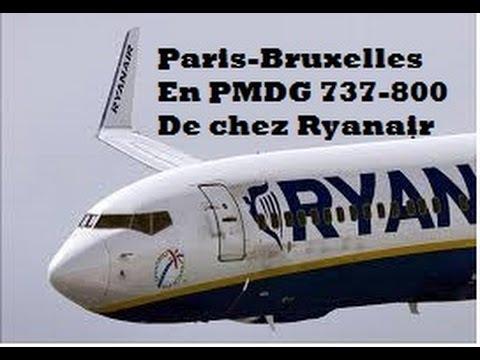 [VATSIM] Paris CDG -Liège en PMDG 737-800 de chez Ryanair (Projet du 31 ) :D [FR]