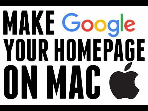 How to make google your homepage mac chrome
