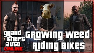 GTA 5 Online Biker DLC Growing Weed and Riding Bikes | GTA V Online Biker DLC Xbox One (GTA 5 DLC)