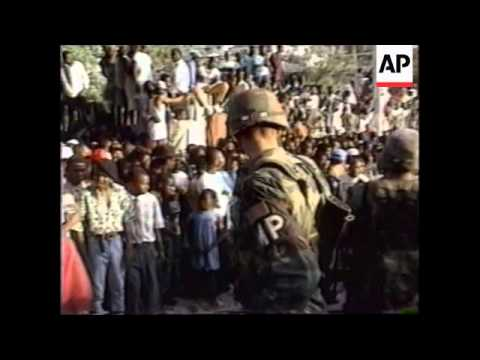 HAITI: US TROOPS HAND OVER TO UN PEACEKEEPING FORCE