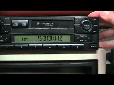 Volkswagen radio tips installation/removal, entering code, antenna