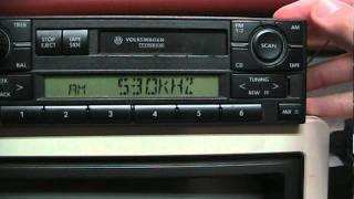 Volkswagen radio tips: installation/removal, entering code, antenna connections