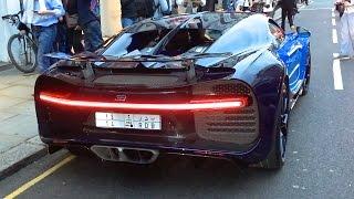 Arab Bugatti Chiron SOUND - Start up and Driving in London