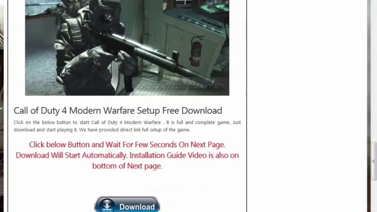 download call of duty 4 modern warfare pc full torrent