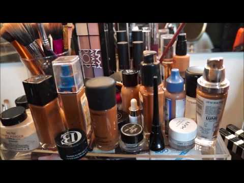 My DIY Vanity SetupTour  ft Muji & Dollar Tree Items  MakeupMesha