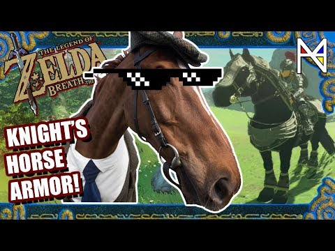 How to Obtain Knight's Horse Armor - ZELDA BREATH OF THE WILD (BOTW Horseback Archery Minigame) PA4N