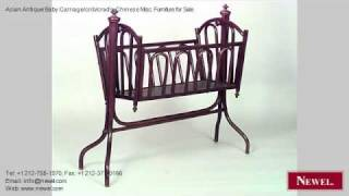 Asian Antique Baby Carriage/crib/cradle Chinese Misc. Furnit