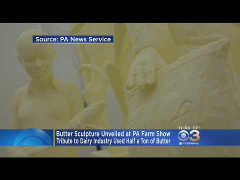 1,000-Pound Butter Sculpture Unveiled At Pennsylvania Farm Show