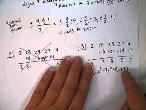 Polynomial Function - Finding Real Roots