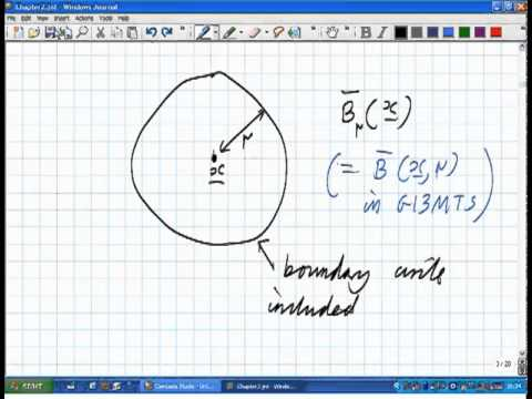 Lecture 2b: Math. Analysis - open balls and closed balls