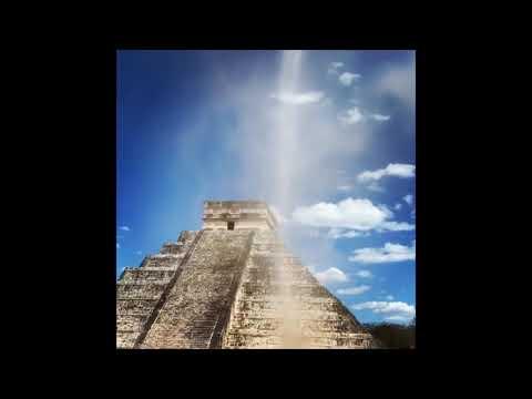 Man Runs Through Dust Devil at Pyramid