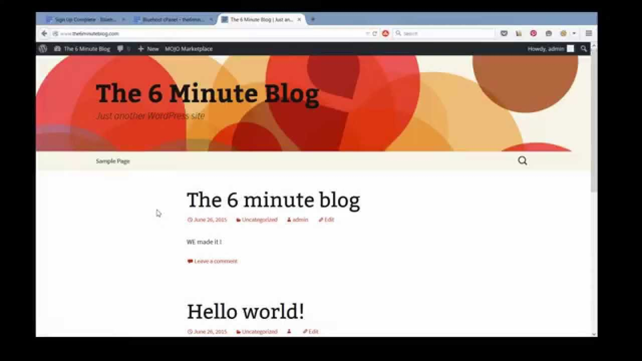 Challenge Accepted ! How To Create A Blog in 6 Minutes - cover