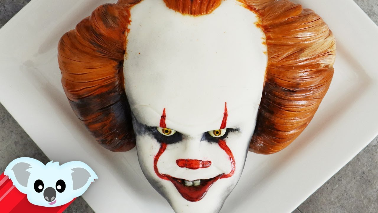 it pennywise cake scary halloween ideas