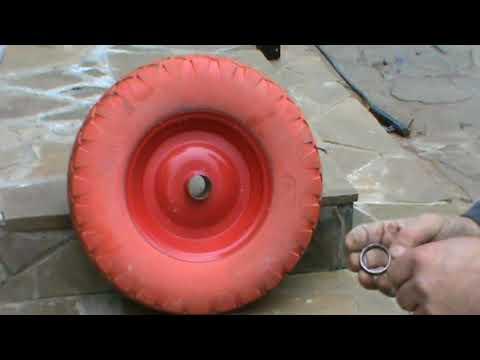 Полиуретановое колесо,стоит ли покупать?.(,лайфхак.) Part 1. / Repair Of A Garden Trolley.