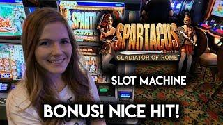Sparticus Slot Machine!! BONUS!! Nice Line Hit!!