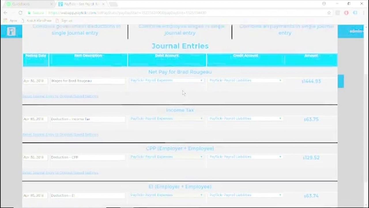 FAQ: QuickBooks Desktop Integration - Exporting Journal