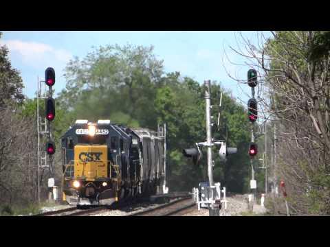 Fast CSX EMD Train With Road Slug