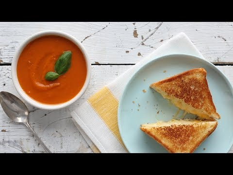 Roasted Peach and Tomato Gazpacho