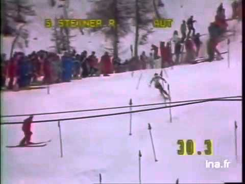 Roswitha Steiner wins slalom (Sestrieres 1985)