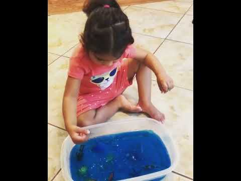 Jello Ocean Sensory Play