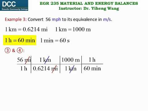 Material and Energy Balances Lecture 05: Conversion of Units