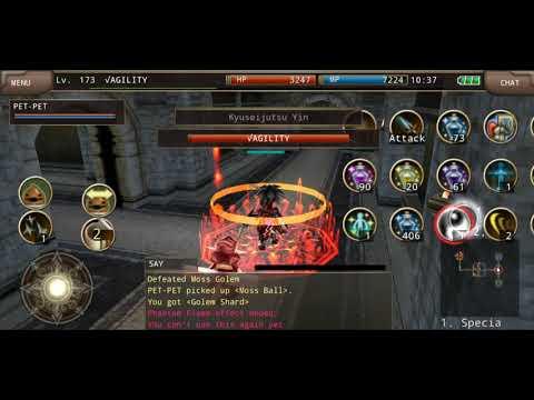 Iruna Online Ninja Pf Special Claw 1 Hit Kill Moss Golems