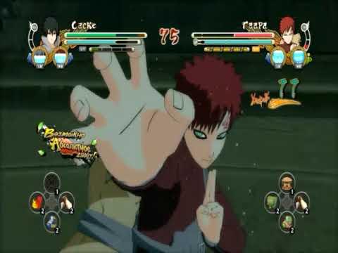 Саске VS Гаара   Naruto Shippuden ultimate ninja Storm 3 аниме картинки фото