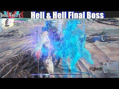 DMC 5 Hell and Hell Mode Final Boss (Nero vs Vergil Mission 20) - Devil May Cry 5 2019