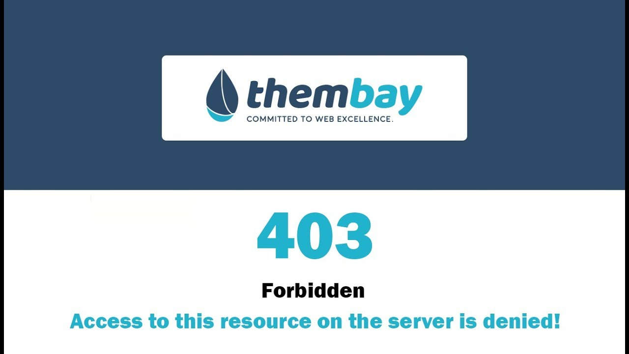 403 Html Page Template