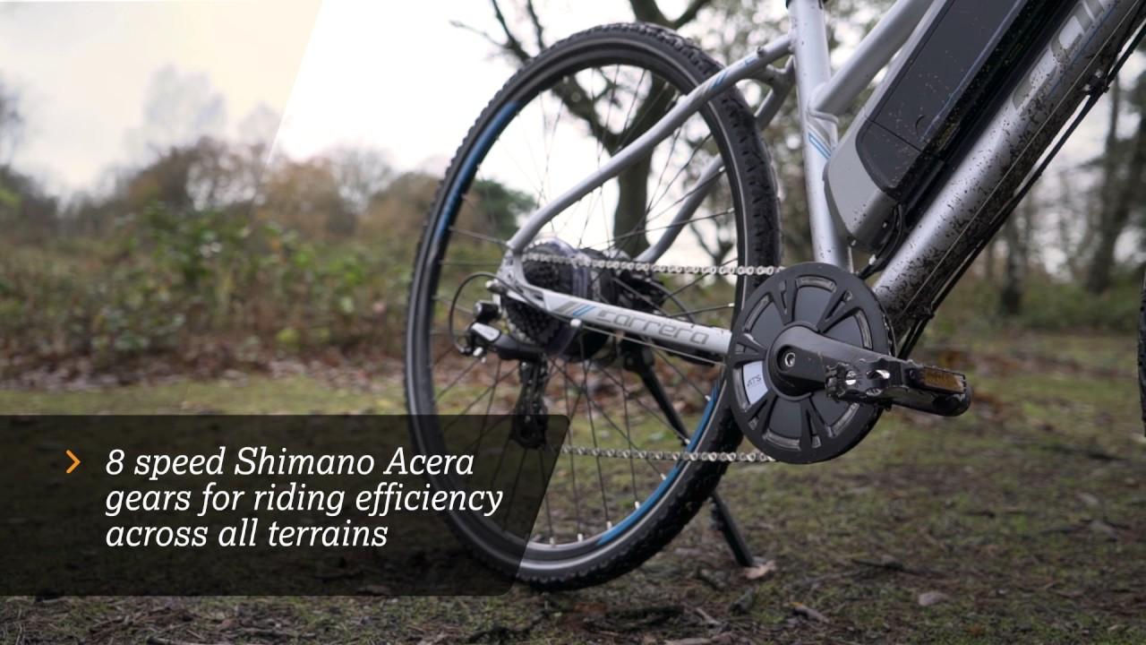 bd9a11cd0b2 Carrera Crossfire-E Womens Electric Bike | Halfords UK - YouTube