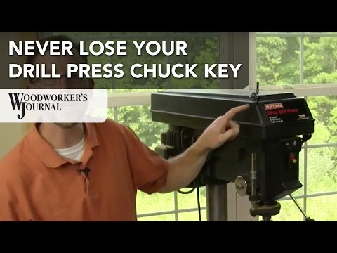 Never Lose Your Drill Press Chuck Key