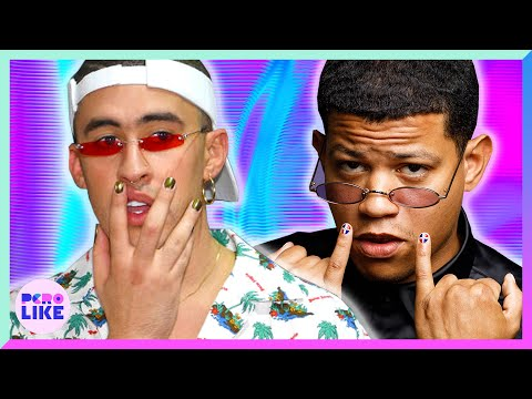 Men Get Their Nails Painted Like Bad Bunny