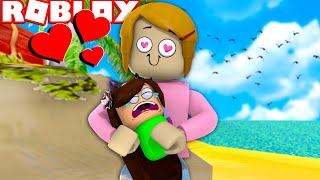 Roblox Roleplay Adopting A Baby At The Beach