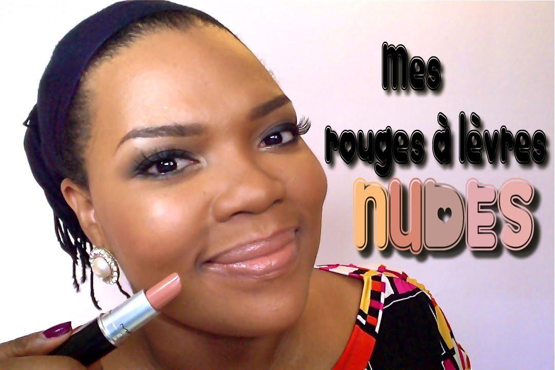 Bien connu Mes Rouges à Lèvres Nudes - YouTube GS33