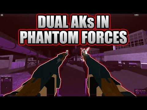 DUAL AKs IN PHANTOM FORCES?!?! (Modded)