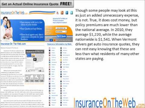 Vermont Auto Insurance