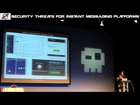 "Hackerzvoice NDH2k14 Talks : Jaime Sanchez ""Security Threats for instant messaging plateforms"""