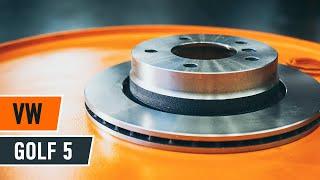 priekšā un aizmugurē Bremžu diski montāža VW GOLF: video pamācības