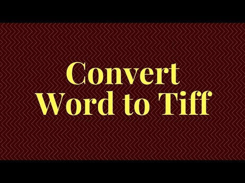 How To Convert Word To Tiff | Converter Software | Word To TIFF | Doc To Image Converter