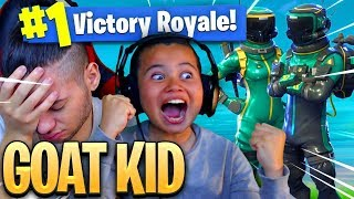 NO WAY! *NEW* SKIN MADE MY 9 YEAR OLD BROTHER UNSTOPPABLE IN FORTNITE BATTLE ROYALE! HE EXPOSED ME!?
