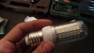LED лампы для освещения гаража - заказ с Ali Express(Опыт заказа лампочек LED (светодиодные) для освещения гаражного помещения., 2015-03-23T21:16:48.000Z)