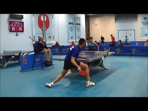 Westchester Table Tennis Center December 2017 Open Singles Semi Final - Jian Li vs Tomislav Pusar
