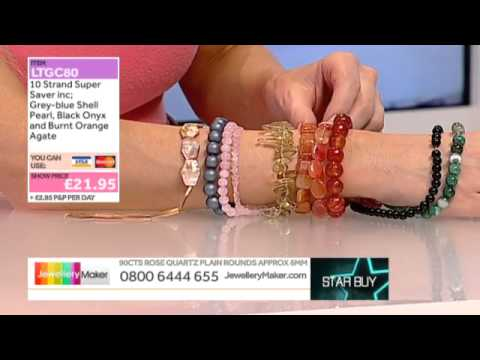 JewelleryMaker LIVE (MIMO) 16/02/14  Pearls and Tanzanite Beads
