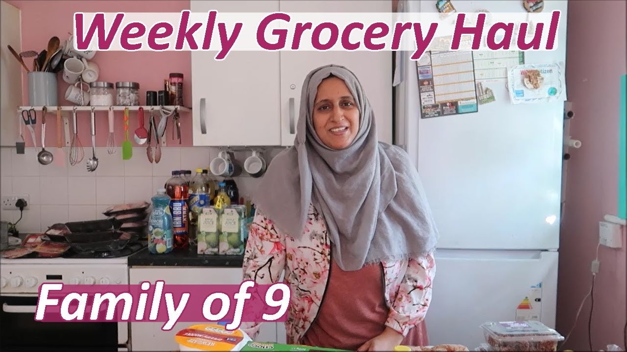 Download Huge Weekly Grocery Haul for a Family of 9 | Lidl & Asda | Shamsa