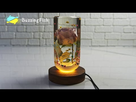 ?Amazing Night Lamp With Resin and Rose - Resin Art ?